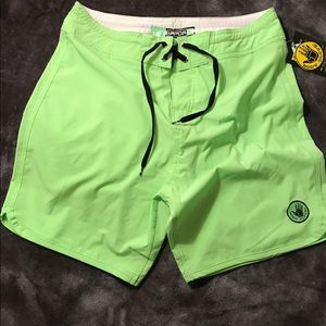 Bodyglove Swim Board shorts Men's Size 32 Green